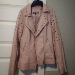 d16041460c8d4 Steve Madden light pink polyurathane jacket